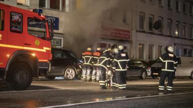 Photo of Hinterhof-Feuer drohte Wohngebäude zu zerstören