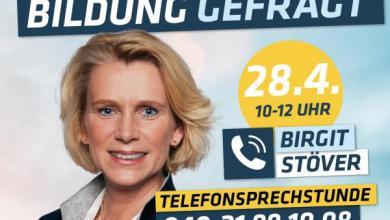 Photo of Birgit Stöver bietet Telefonsprechstunde an