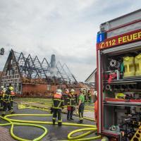 Nach Blitzeinschlag brennt Reetdachhaus nieder