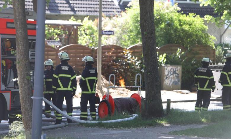 Bild von Gasunfall auf Baustelle in Neugraben-Fischbek