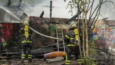 Photo of Feuerwehr löscht Brand in Abbruchhaus