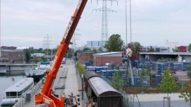Bild von Mit dem Flachwaggon ist das Ladegleis im Museumshafen Harburg komplett