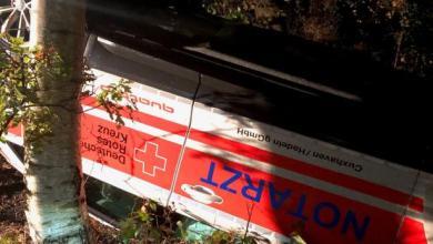 Bild von Notarzt auf Einsatzfahrt verunglückt – Fahrer durch Glück nicht schwerer verletzt