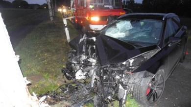 Bild von Autofahrer bei Unfall in Schwinge schwer verletzt