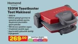 Homend 1331H Toastbuster Tost Makinesi