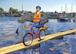 Jazda rowerem po desce na wodzie. Podejmiesz wyzwanie?