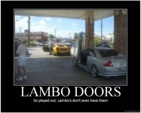 So played out, Lambos don't even have them