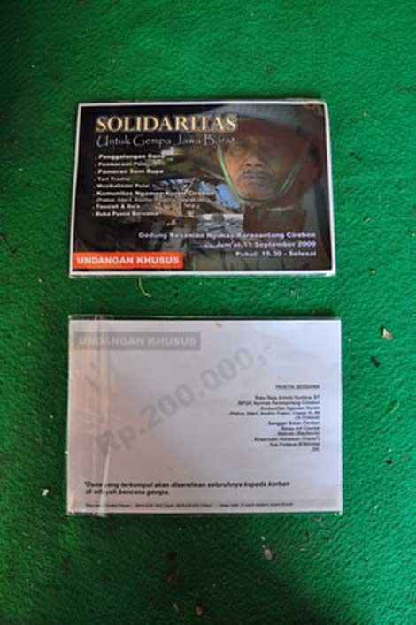undangan pameran solidaritas gempa