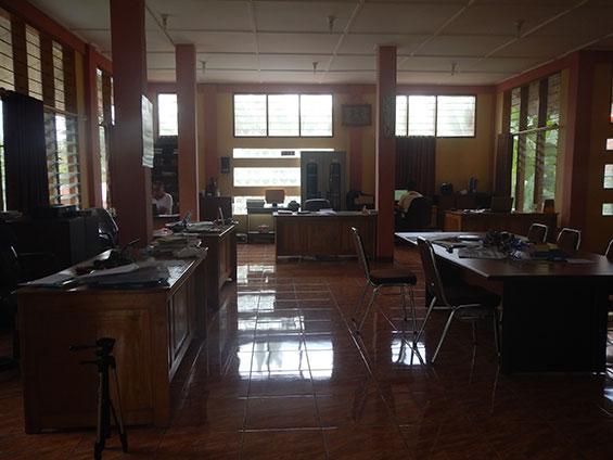 Suasana ruang kerja di SKPKC.