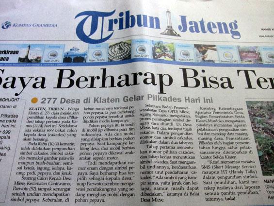 Tribun Jogja newspaper.