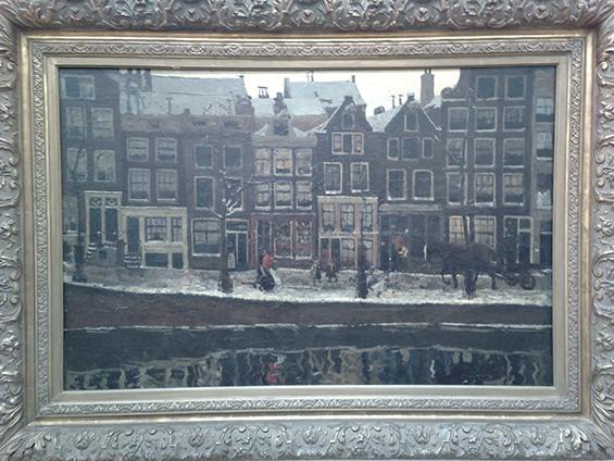 Lauriergracht, Amsterdam (1895) karya George Hendrik Breither.