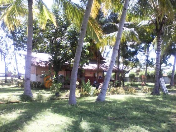 Bangunan tempat Dolah tinggal di tengah-tengah tanah yang ia jaga.