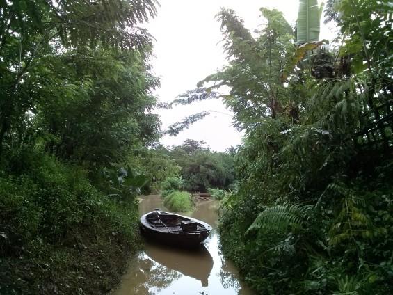 Lokasi pasar bambu di Keragilan Serang yang sudah tidak aktif lagi.