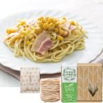 北海道産のトウモロコシの甘さとゴーダチーズのコクのあるソースが絶妙です。