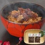 高知県産うなぎの蒲焼を刻んだ身と、タレとをうまく合わせたうなぎ飯の素。