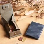 縦開きのボックス型コインケースにカモフラージュ・ツリーシリーズ