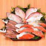北海のロシア海域の紅鮭漬魚を詰合せにしました。越前干物と漬魚詰合せ