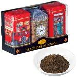 ロンドンの代表的なモチーフの缶に入れたミニ紅茶。キュートなデザインです。