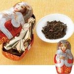 ロシアの象徴マトリョーシカがモチーフの缶入り紅茶。マトリョーシカ缶入り紅茶