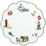 #スイス テーブルマット スイスののどかな風景をイメージした牧歌的なデザイン。