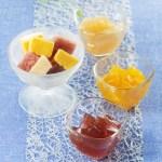 国産の果汁を使用した見た目にも可愛い、3種類のひとくちサイズのゼリー
