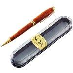 コアウッドの木目の美しさが際立つ高級感あふれるボールペンです。