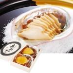 桐箱に入れて風呂敷で包んだアワビの煮貝★桐箱入りアワビの煮貝