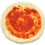 素焼きの生地にトマトソースを塗ったものです。オリジナルのピザ