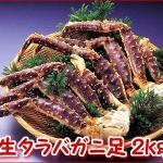 「焼きがに・鍋・天ぷらに最適!」 生たらばがに足 大・2kg /生冷凍 18,500円(税込)