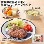 【1食セット】宮崎県産黒毛和牛と黒豚のハンバーグセット / わんまいるオリジナル