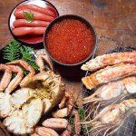 たらば蟹の貫録のおいしさ、毛蟹の濃厚で繊細な蟹身、鱒いくら醤油漬