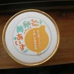 愛知県 豊田市榊野町 てくてくたまごを2個使用した濃厚の無添加アイス。