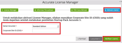 ACCURATE License Manager 2