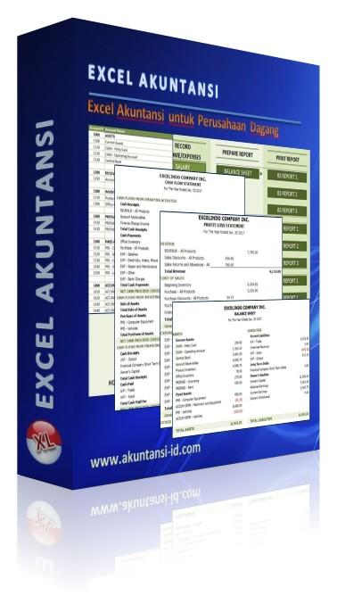 Contoh Laporan Keuangan Perusahaan Dagang Excel : contoh, laporan, keuangan, perusahaan, dagang, excel, Excel, Akuntansi, Perusahaan, Dagang