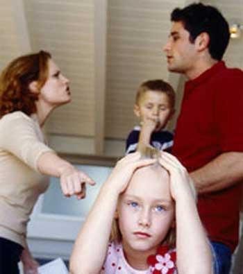 illustrasi pertikaian orangtua