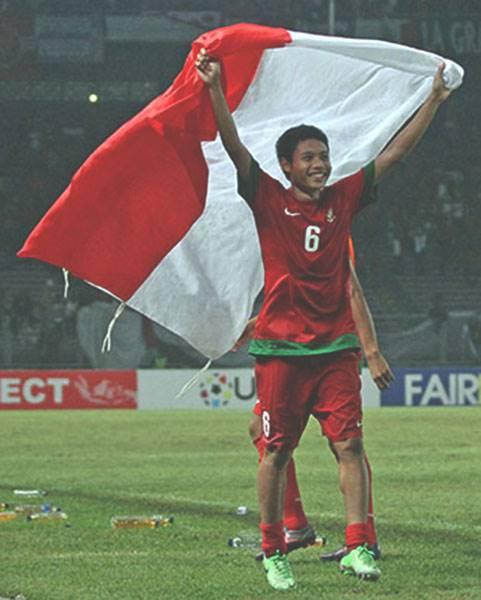 Pemain Timnas Indonesia Evan Dimas Darmono