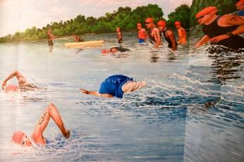Ikut berenang triathlon d Rumah Imagi Lagoy Bay Bintani