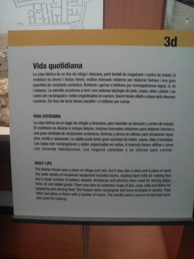 Från museet för katalansk historia i Barcelona