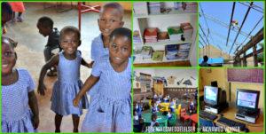 Collage med fotos fra Ghana af Karl Peter. Akwamus venner - foreningsmeddelelser
