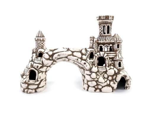 Ozdoba do akwarium, brama średniowieczna z basztami
