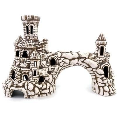 Ozdoba doakwarium, brama średniowieczna zbasztami
