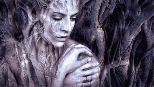A healer phantom - Crown of Bones by AK Wilder. -  Image by Susan Sedonn Boulet.