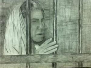 احدي رسومات الفنان الرسام الأحوازي غسان جلداوي