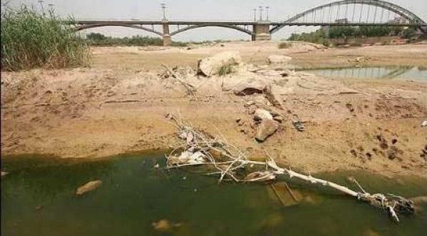 نهر كارون والتلوث المتعمد من قبل النظام الايراني واسراه في تدمير الانسان الاحوازي