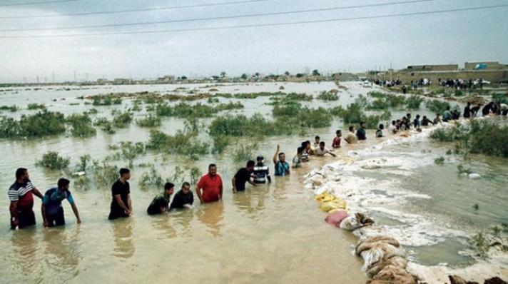 فيضانات الأحواز الثانية ، بدايتها كانت في 25-3-2019