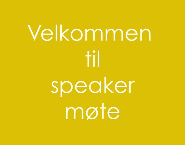 speakerMøte