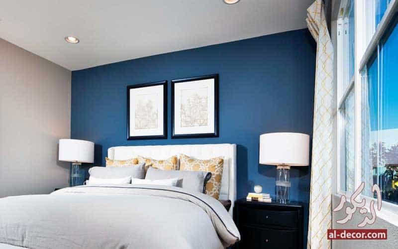 روعة الأزرق في غرف النوم