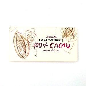 Tableta Chocolate puro 100% Casa Dalmases