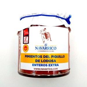 Pimiento piquillo D.O. Lodosa. Tarro cristal 250gr. El Navarrico.
