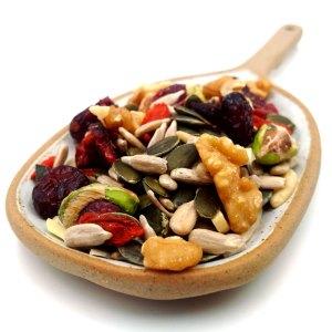 Mezcla de frutos secos crudos para ensaladas